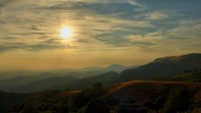 Sole di tramonto Immagini Stock