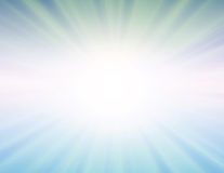 Sole di vettore su priorità bassa blu Fotografie Stock