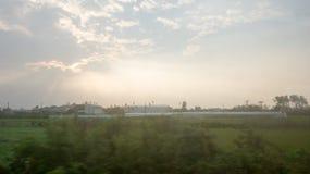 Sole diminuente; il tramonto Fotografie Stock