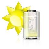 Sole e batteria gialli Illustrazione di Stock