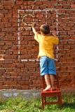 Sole e finestra dell'illustrazione del ragazzo Fotografie Stock Libere da Diritti