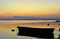 Sole e mare di mattina fotografia stock libera da diritti