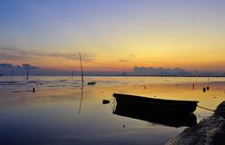 Sole e mare di mattina immagine stock libera da diritti