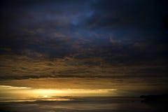 Sole e nuvole Fotografia Stock