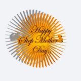 Sole felice di giorno della madre di punto Fotografie Stock