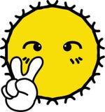 Sole giallo brillante allegro royalty illustrazione gratis
