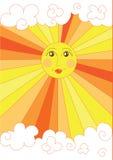Sole giallo sveglio Immagine Stock