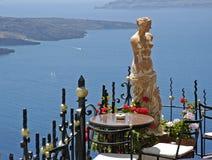 Sole greco di festa dell'isola di Santorini Immagini Stock