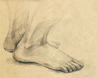 Sole, leg, drawing Royalty Free Stock Photography