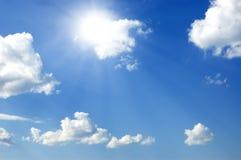 Sole luminoso Fotografia Stock Libera da Diritti