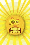 Sole molto caldo Fotografia Stock