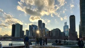 sole nella città Fotografie Stock