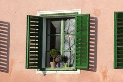 Sole nella finestra Immagini Stock Libere da Diritti