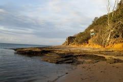 Sole nella Praia Immagine Stock