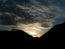 Sole nuvoloso Fotografia Stock