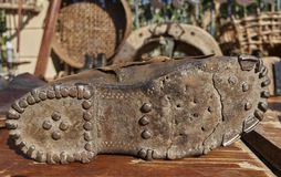 Sole of an old boot. A sole of an old boot Royalty Free Stock Photo