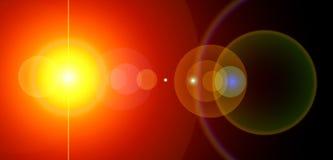 Sole panoramico di potenza. Fotografie Stock