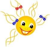Sole rosso sorridente Fotografie Stock