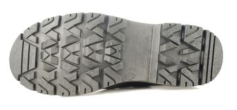 Sole of rough boot. Rough boot on a high thick sole Stock Images