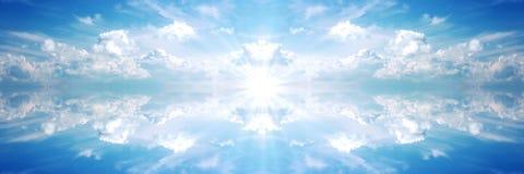 Sole scuro 2 della bandiera celestiale Immagini Stock