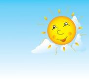 Sole sorridente Fotografia Stock