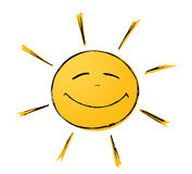Sole sorridente Fotografia Stock Libera da Diritti