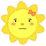 Sole sorridente della ragazza sveglia Immagini Stock