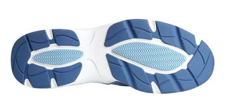 Sole of sport shoe. On white background Stock Photos