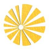 Sole stilizzato Fotografie Stock Libere da Diritti