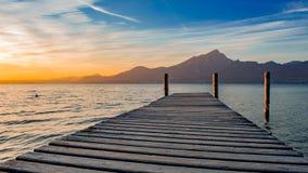 Sole sul lago garda Immagini Stock
