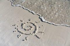 Sole sulla spiaggia Immagini Stock
