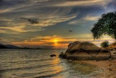 Sole sulle rocce Fotografie Stock Libere da Diritti