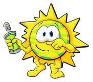 Sole sveglio del fumetto Fotografie Stock