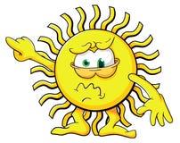 Sole sveglio del fumetto Immagini Stock
