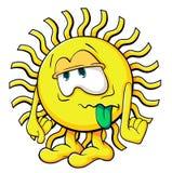 Sole sveglio del fumetto Fotografia Stock Libera da Diritti