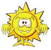Sole sveglio del fumetto Immagini Stock Libere da Diritti