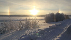 Sole tre del Nord russo archivi video