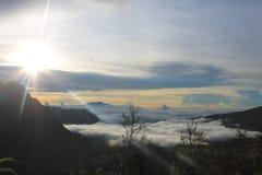 Sole Volcano Mount Bromo, Java Indonesia orientale fotografia stock