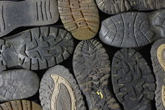 Soled shoes background Royalty Free Stock Photography