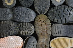 Soled shoes old Royalty Free Stock Image