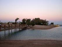 Soleil à l'Egyptien Venise, EL Gouna Photographie stock libre de droits