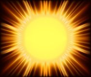 Soleil abstrait Image libre de droits