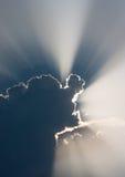 Soleil avec des nuages Images libres de droits