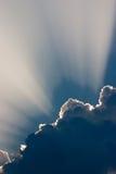 Soleil avec des nuages Image libre de droits