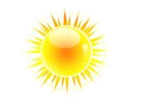 Soleil brillant illustration de vecteur