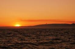 Soleil dans l'océan photos stock