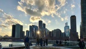 soleil dans la ville Photos stock