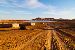 soleil dans le désert de la dune du Maroc Images libres de droits
