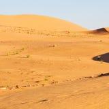 soleil dans le désert du sable et de la dune du Maroc Images libres de droits
