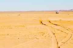 soleil dans le désert du sable et de la dune du Maroc Photographie stock libre de droits